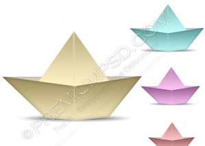 Colorful Paper Boat Icon – PSD Download