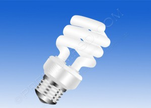 Energy Saver Light Bulbs Vector – PSD Download