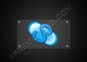 Skype Icon On The Metal Mesh – PSD Download