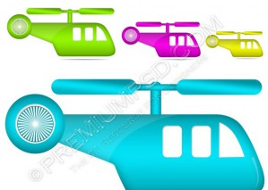 Vector Helicopter Icon – PSD Download