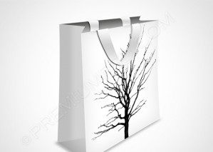 White Shopping Bag Icon – PSD Download