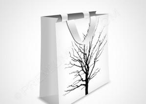 White Shopping Bag Icon – PSD Download