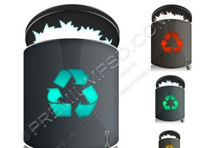 Black Trash Icon – PSD Download