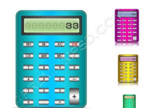 Calculator Vector Icon – PSD Download