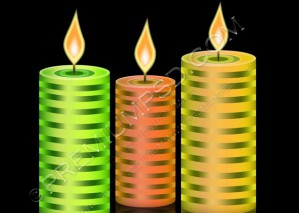 Candles Vector – PSD Download