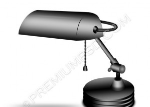 Black Lamp Icon – PSD Download
