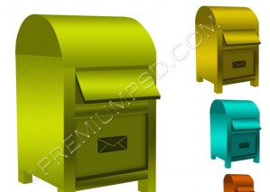 Mail Box Icon – PSD Download