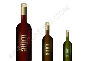 Wine Bottle Vector – PSD Download