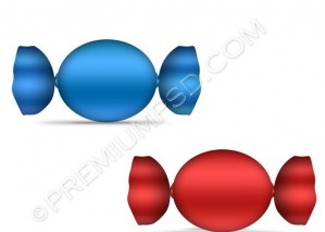 Blue And Red Candy – PSD Download