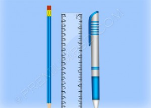 Pencil Scale And Ballpoint – PSD Download