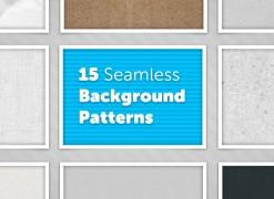15 Seamless Background Patterns