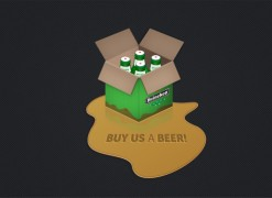 Alternative Donate Button – six pack beer