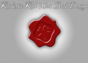 Learn to Create Realistic Red Wax Seal Design