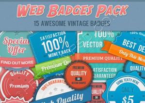 Vintage Web Badges