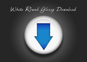 Learn to Create White Round Glossy Download Icon