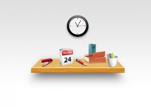 Learn to Create Realistic Wooden Shelf With Office Tools