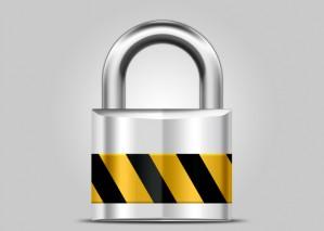 Learn to Create Metallic Shiny Lock Icon