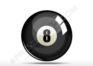 Black 8 Number Snooker Ball Design