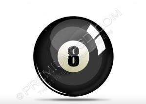 Black 8 Number Snooker Ball Design