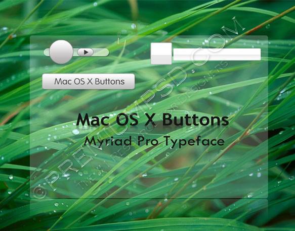 Mac OS X Buttons Effects