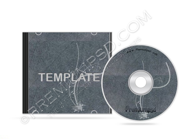 Grunge Floral Cd Case Template