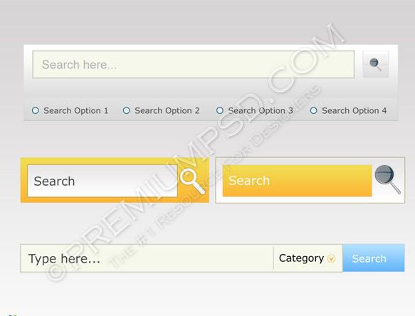 Search input menus