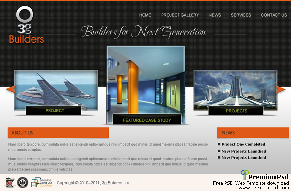 3G Builders Web Template – PSD Download