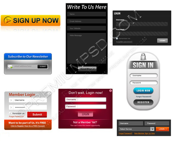 Assorted web forms pack