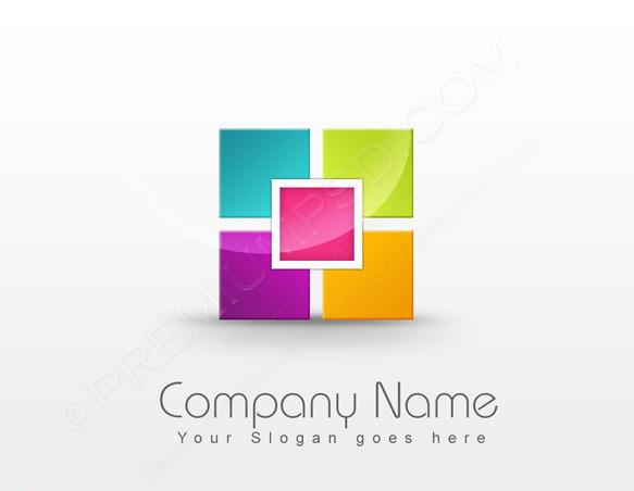Colorful Blocks Logo Design