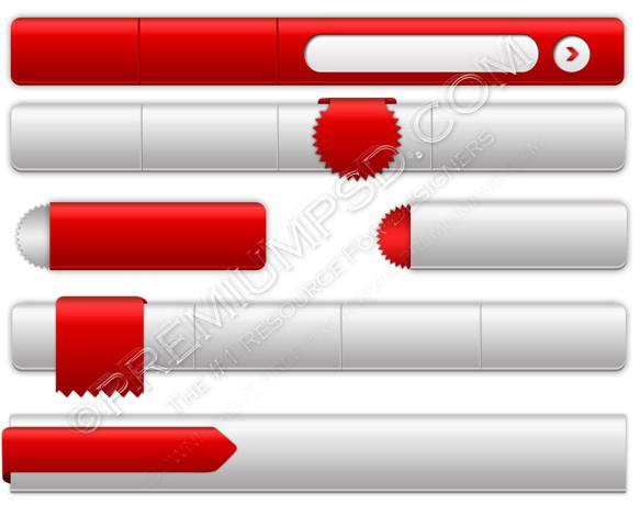 red white navigation set