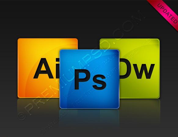 Adobe CS4 Glossy Icons