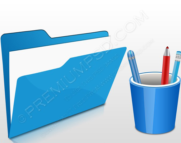 Blue Office 3D icon