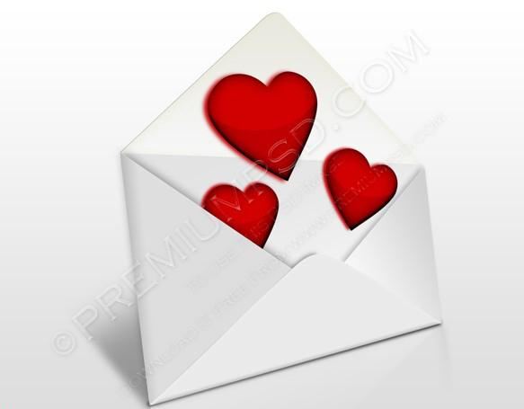 Envelope Glossy Hearts