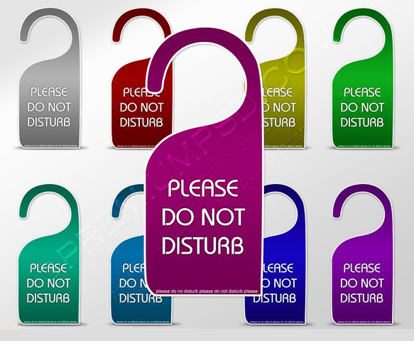 please do not disturb tag sign