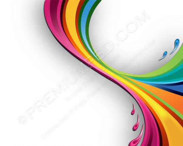 Splash Various Colors Wallpaper