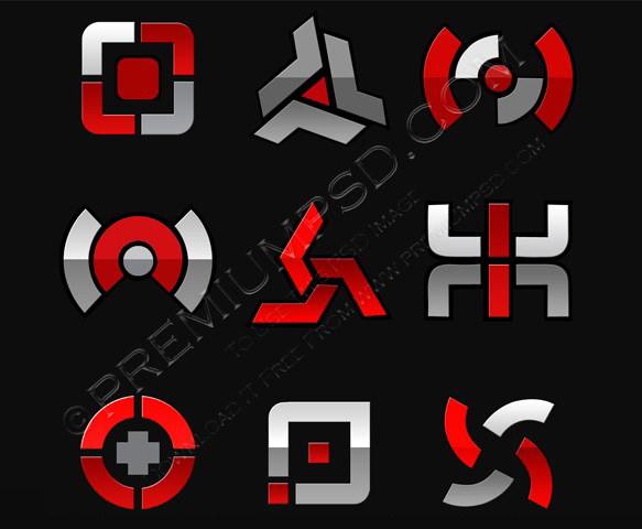 Vector Abstract Symbol Set