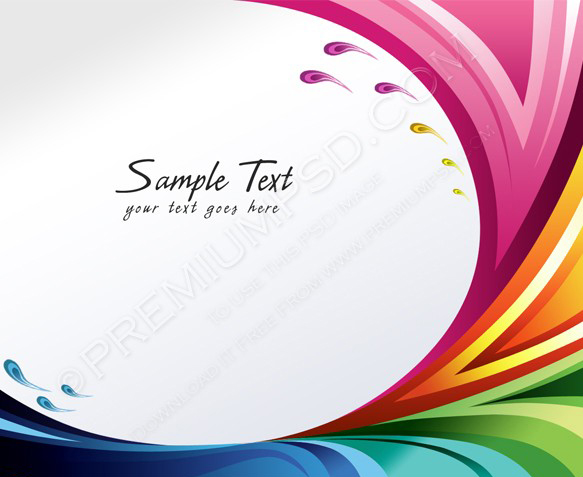 A splash of various colors Background design for your text