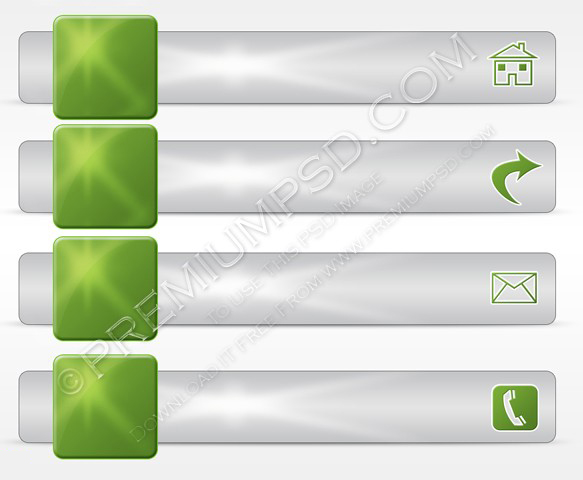 Ecology icon menu bar vector set