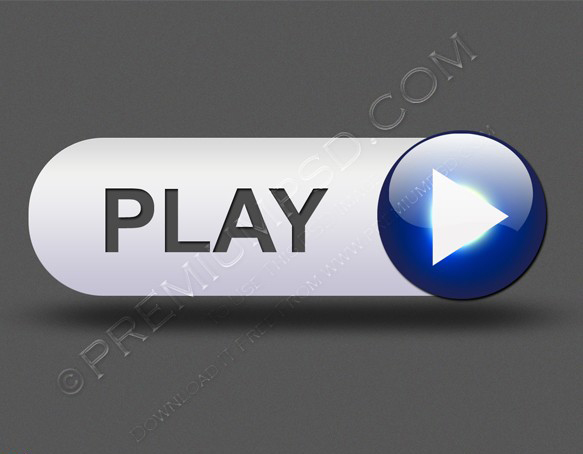 music play button for web design element