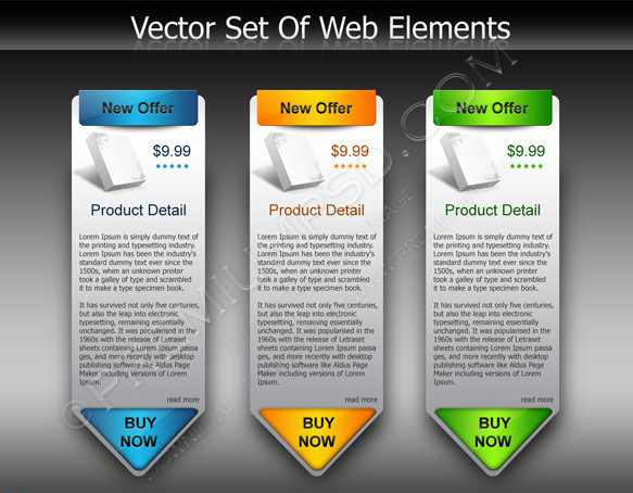 web style elements sale signs