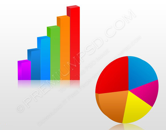 3d Business charts vector