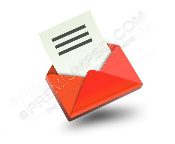 3D Red Email icon