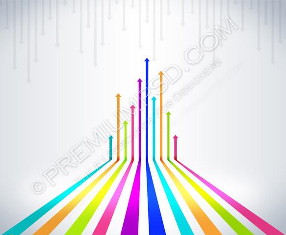 Colored Arrows Vector Design