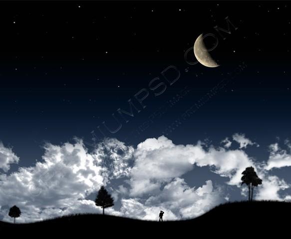 Dark Night Clouds Wallpaper