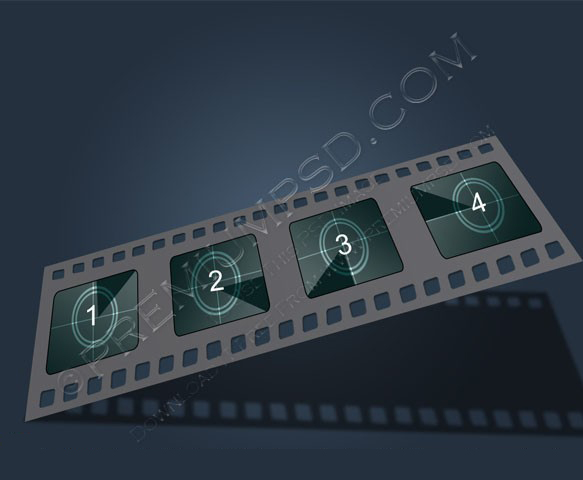 Filmstrip vector illustration