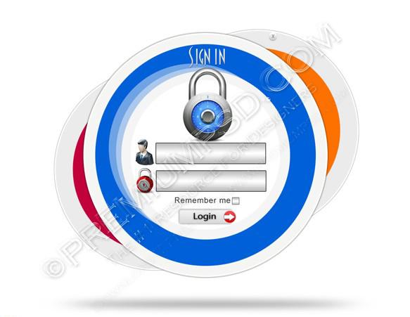 Login Panel Security Window screen Web Form Template