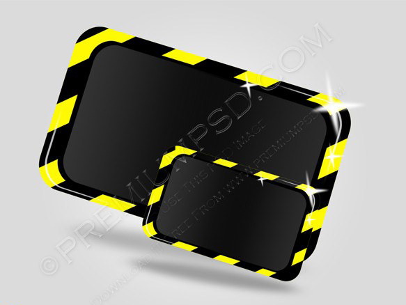 Modern under construction icon vector