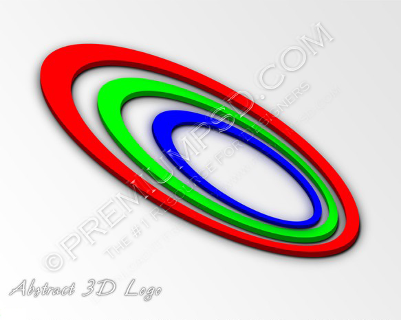 RGB Abstract 3D Logo