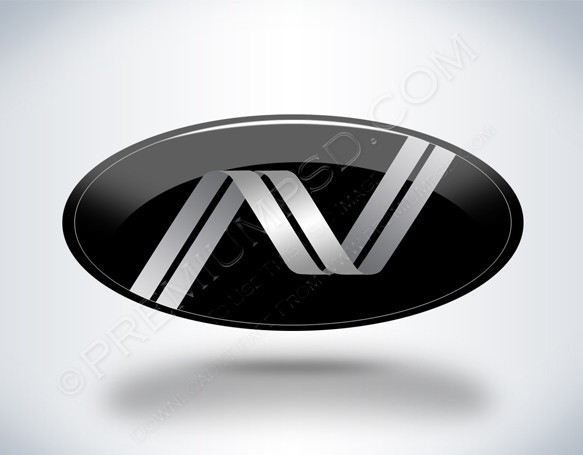Stylish Emblem Design Initial N