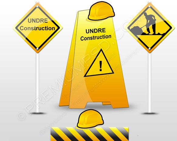 Under construction items set